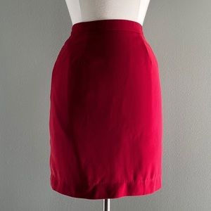 Red Pencil Skirt | Size 4